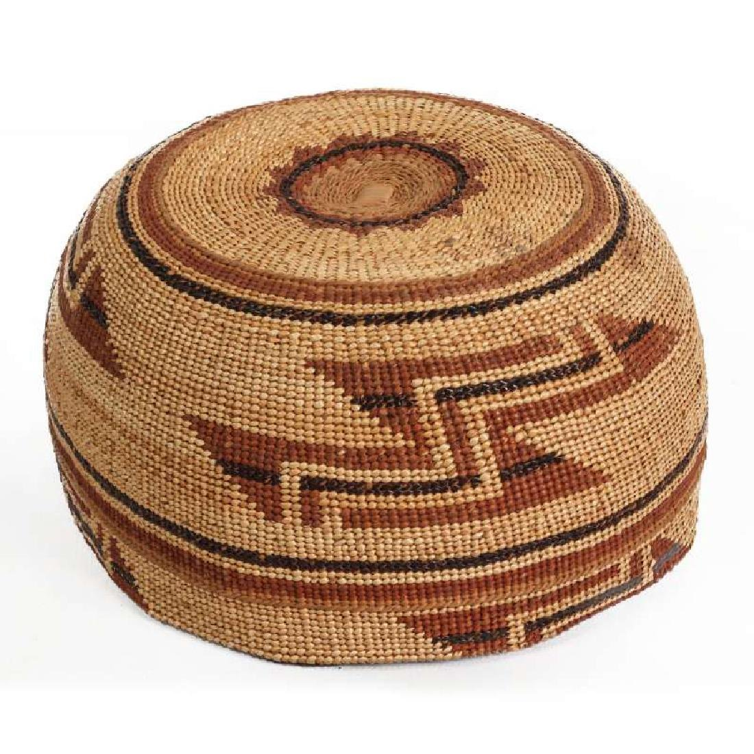 A FINE HUPA INDIAN BASKETRY HAT