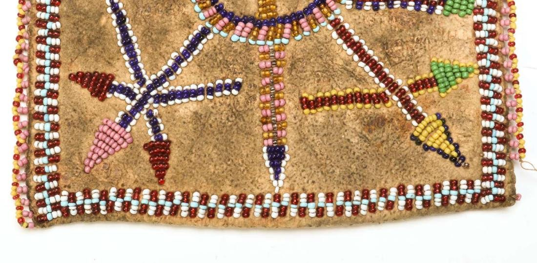 A CIRCA 1900 APACHE PARTIALLY BEADED BAG - 8