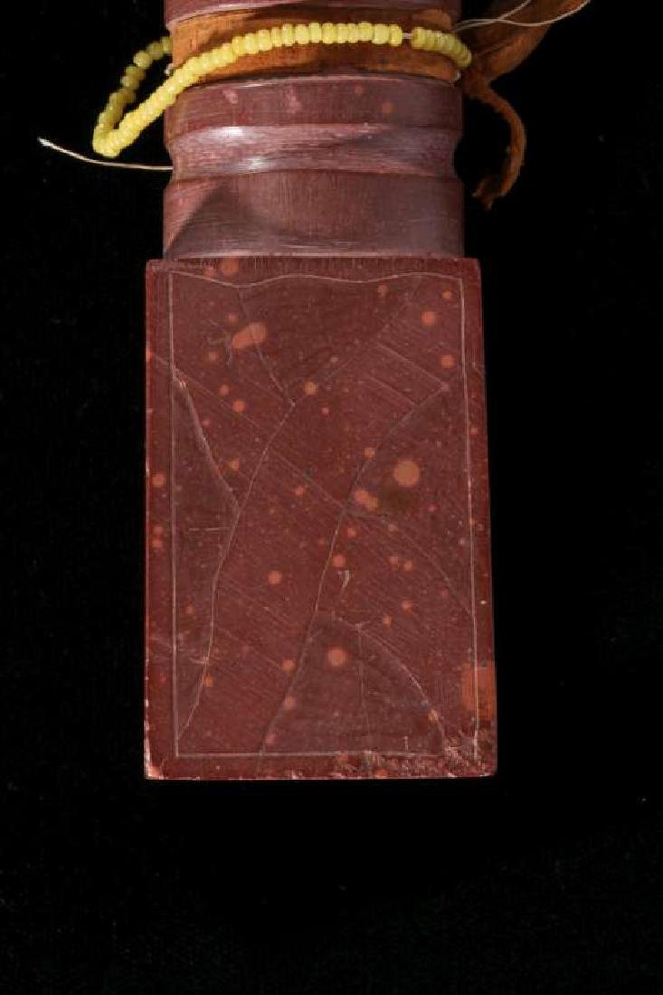 A CARVED CATLINITE PIPESTONE PIPE  ca. 1930-1950 - 2