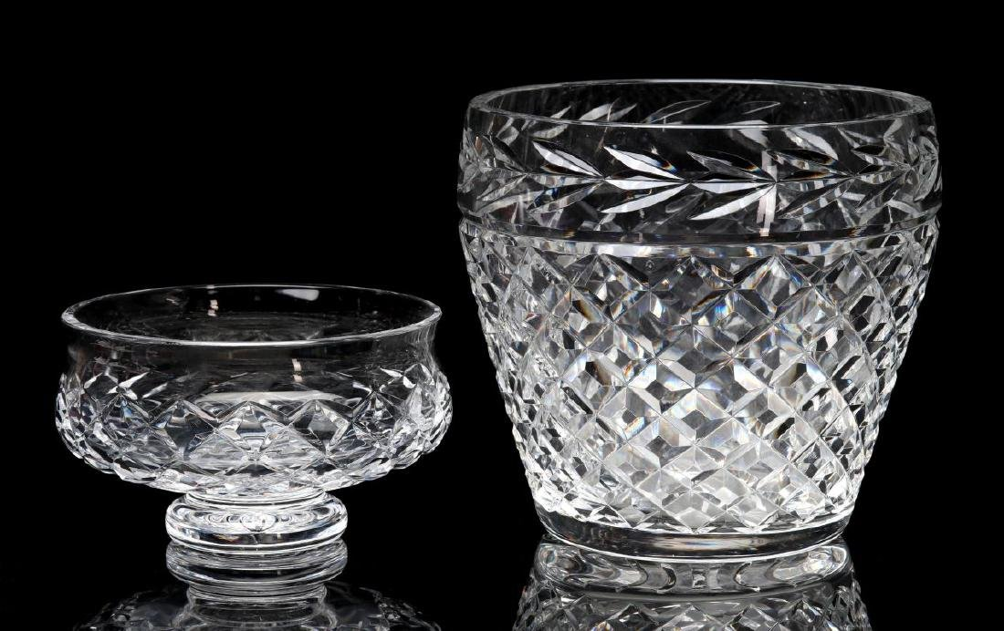 WATERFORD 'COMERAGH' CUT GLASS BOWL AND VASE