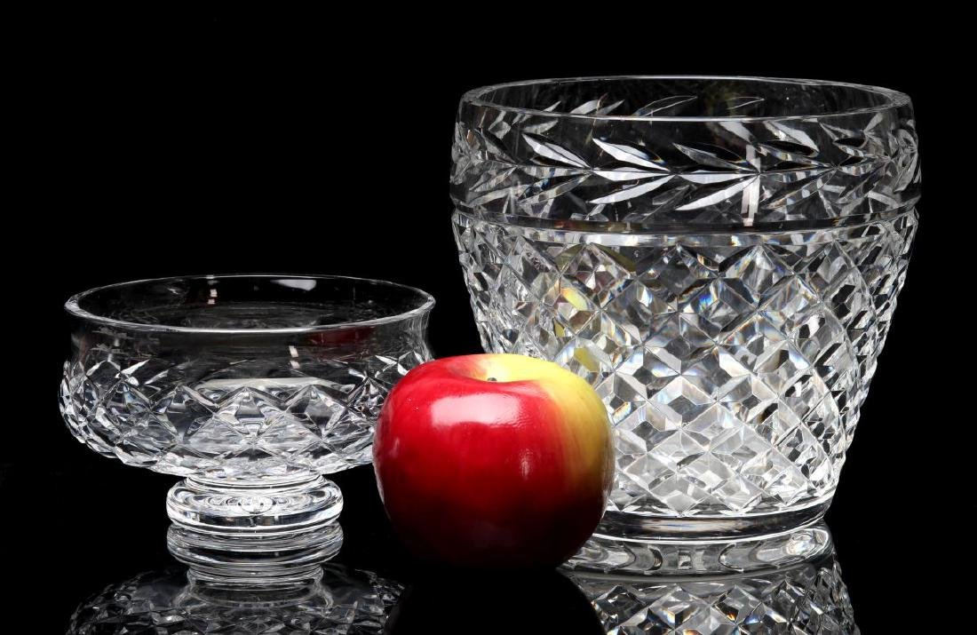WATERFORD 'COMERAGH' CUT GLASS BOWL AND VASE - 2