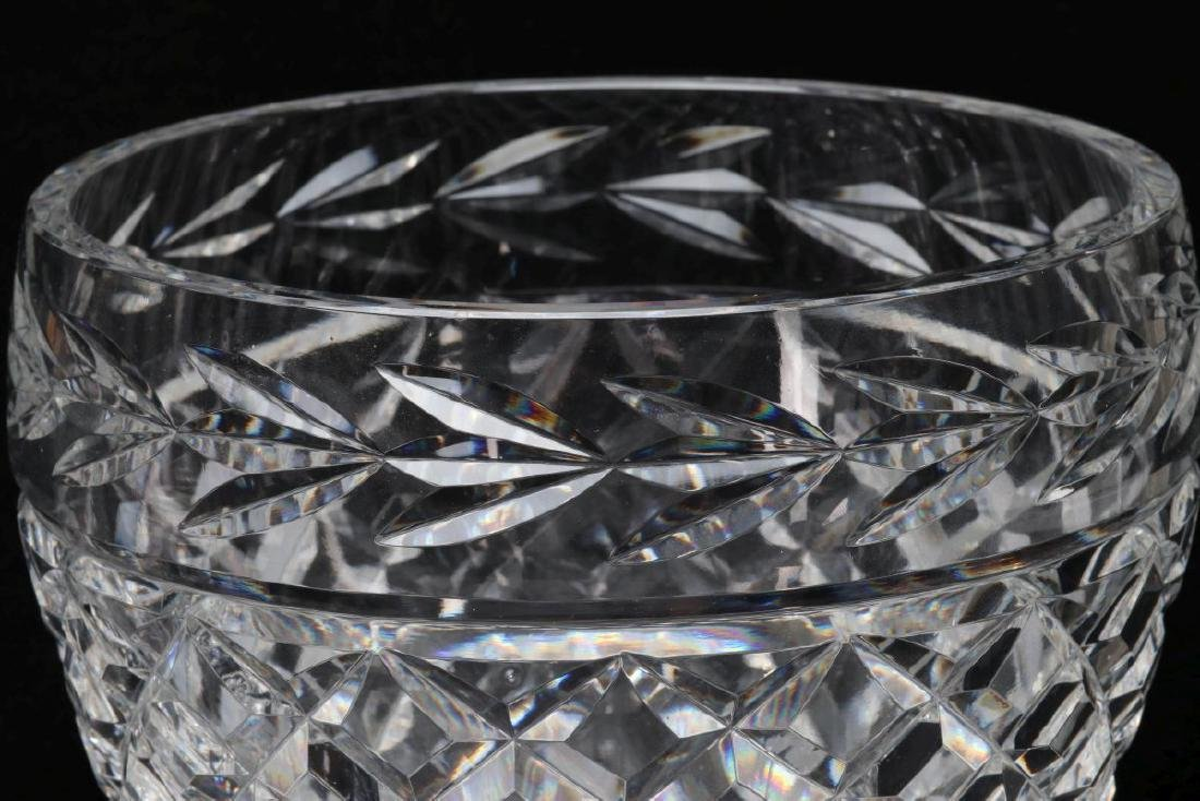 WATERFORD 'COMERAGH' CUT GLASS BOWL AND VASE - 3