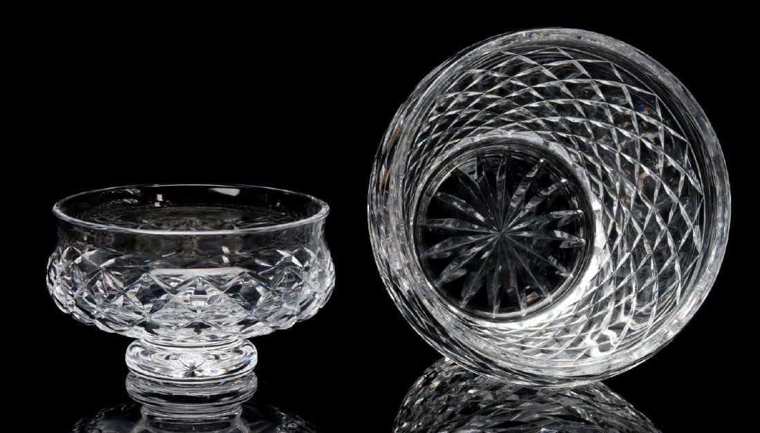 WATERFORD 'COMERAGH' CUT GLASS BOWL AND VASE - 6