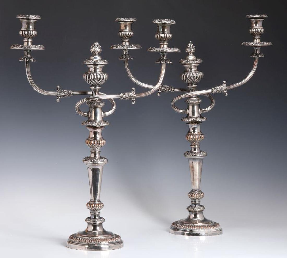 GEORGIAN OLD SHEFFIELD PLATE CANDELABRA CIRCA 1800