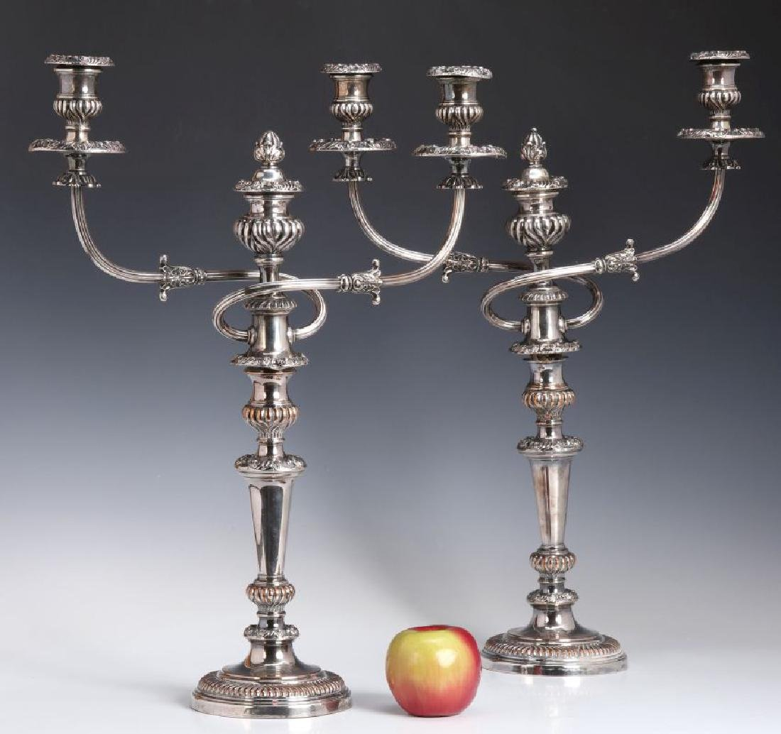 GEORGIAN OLD SHEFFIELD PLATE CANDELABRA CIRCA 1800 - 2