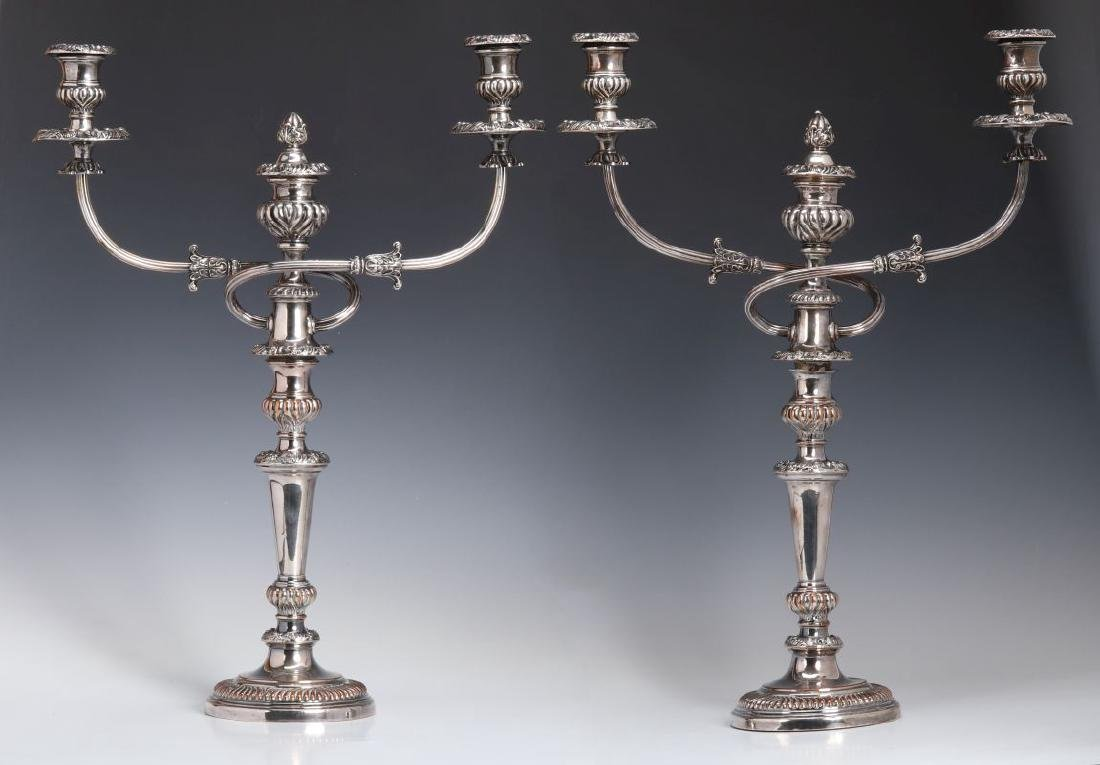 GEORGIAN OLD SHEFFIELD PLATE CANDELABRA CIRCA 1800 - 6