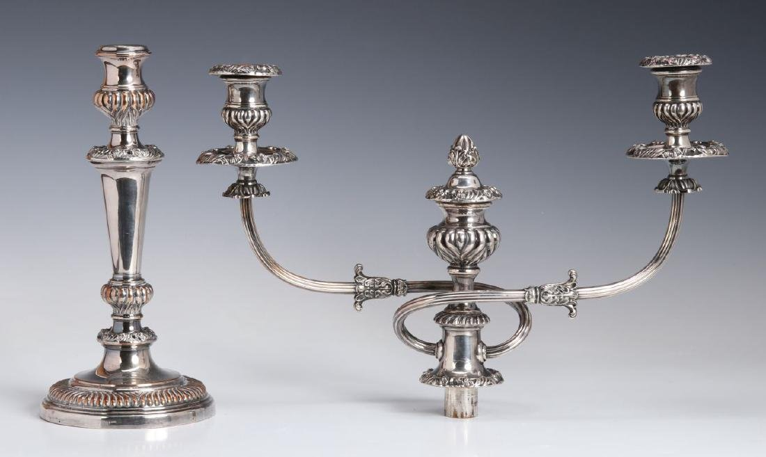 GEORGIAN OLD SHEFFIELD PLATE CANDELABRA CIRCA 1800 - 7