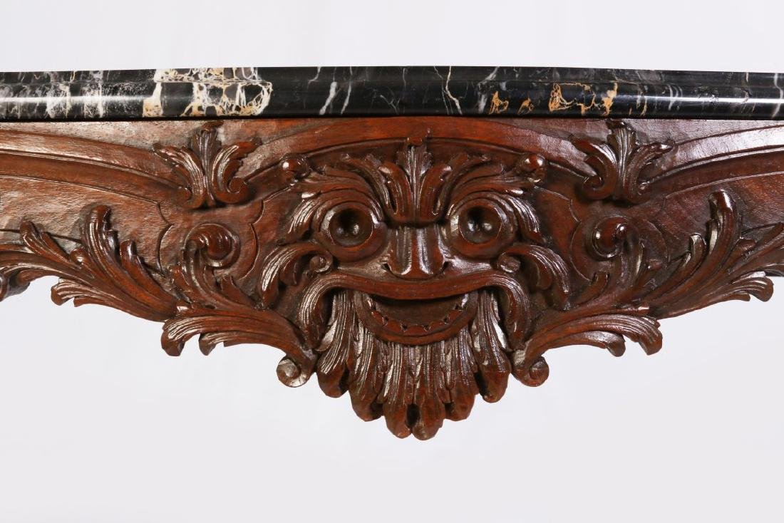 A LOUIS XV STYLE HIGHLY CARVED WALNUT CONSOLE - 5