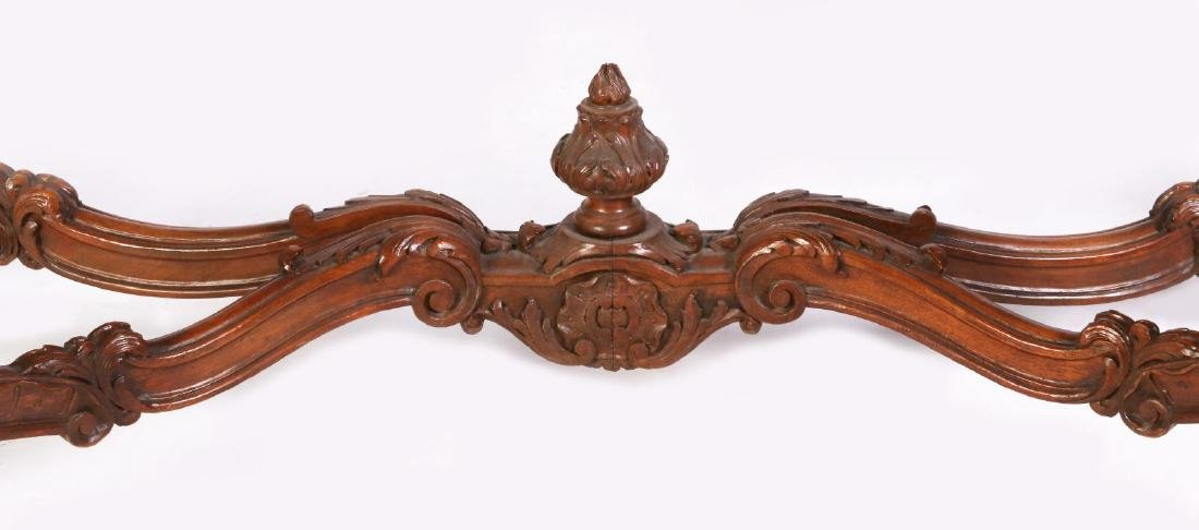 A LOUIS XV STYLE HIGHLY CARVED WALNUT CONSOLE - 6