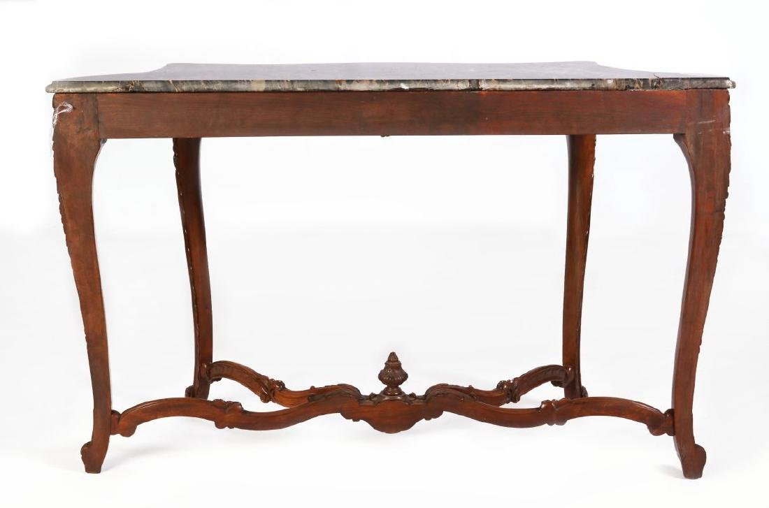 A LOUIS XV STYLE HIGHLY CARVED WALNUT CONSOLE - 9