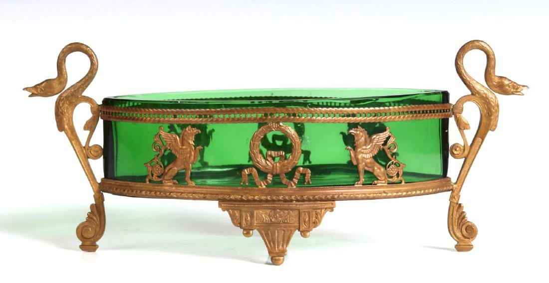 A LATE 19TH CENTURY EGYPTIAN REVIVAL DISH IN STAND