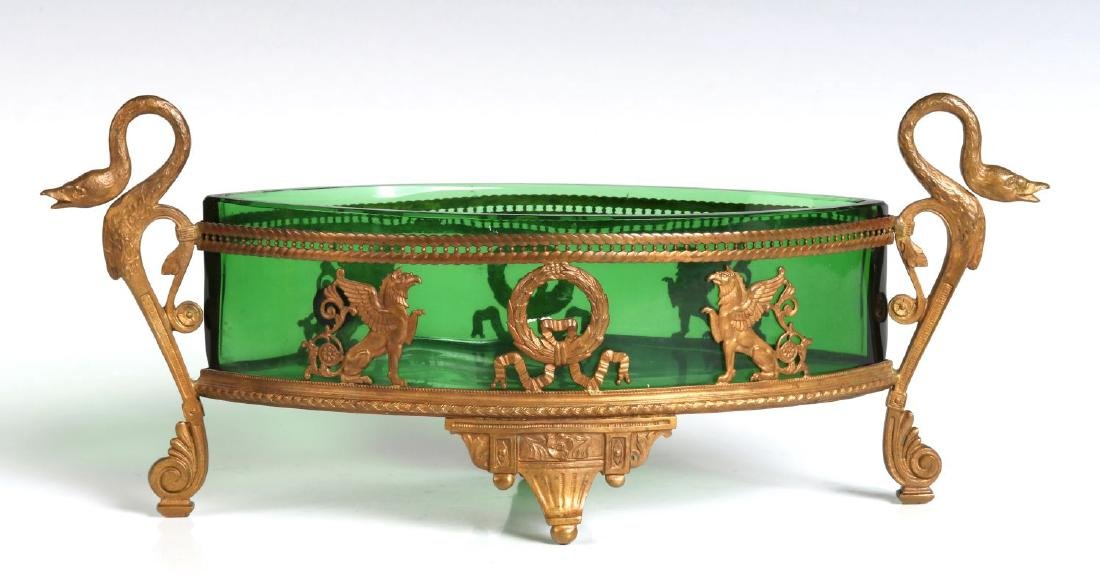 A LATE 19TH CENTURY EGYPTIAN REVIVAL DISH IN STAND - 5