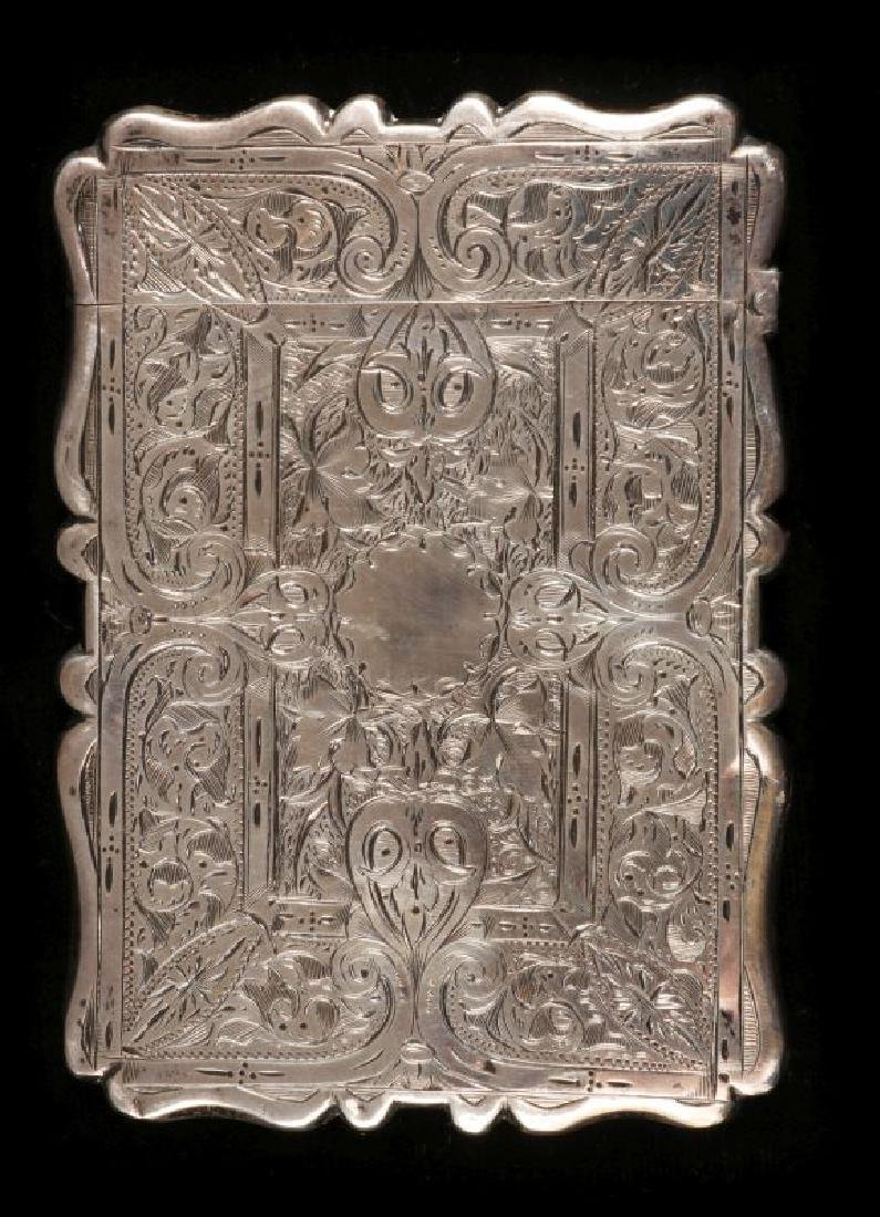 AN 1871 STERLING SILVER CALLING CARD CASE
