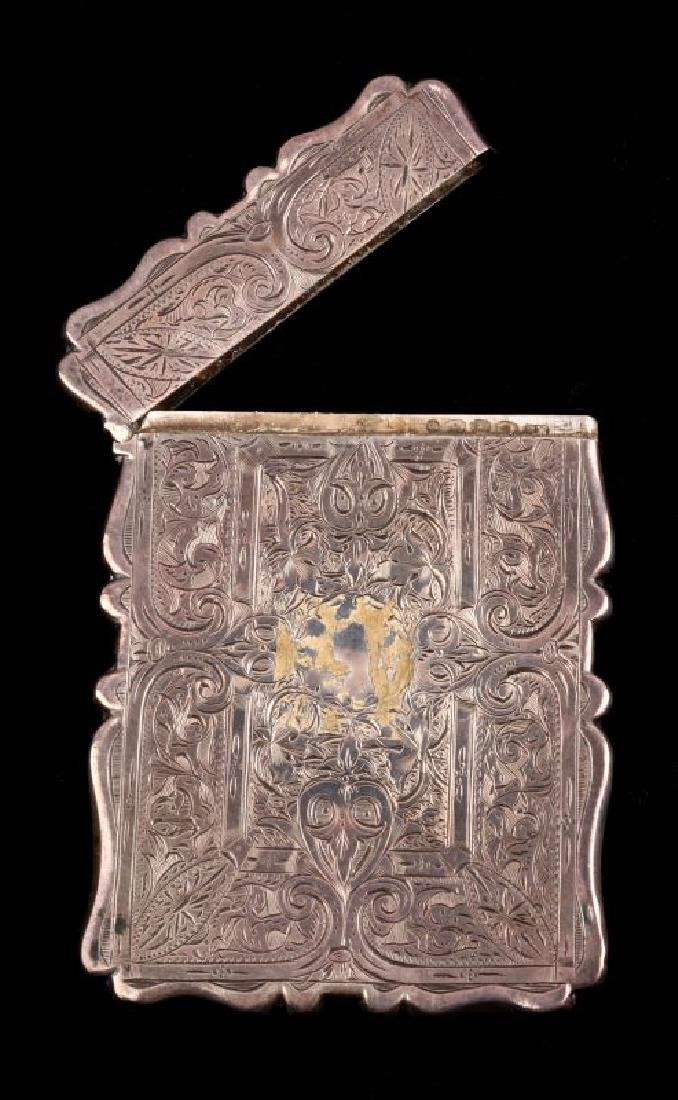 AN 1871 STERLING SILVER CALLING CARD CASE - 3