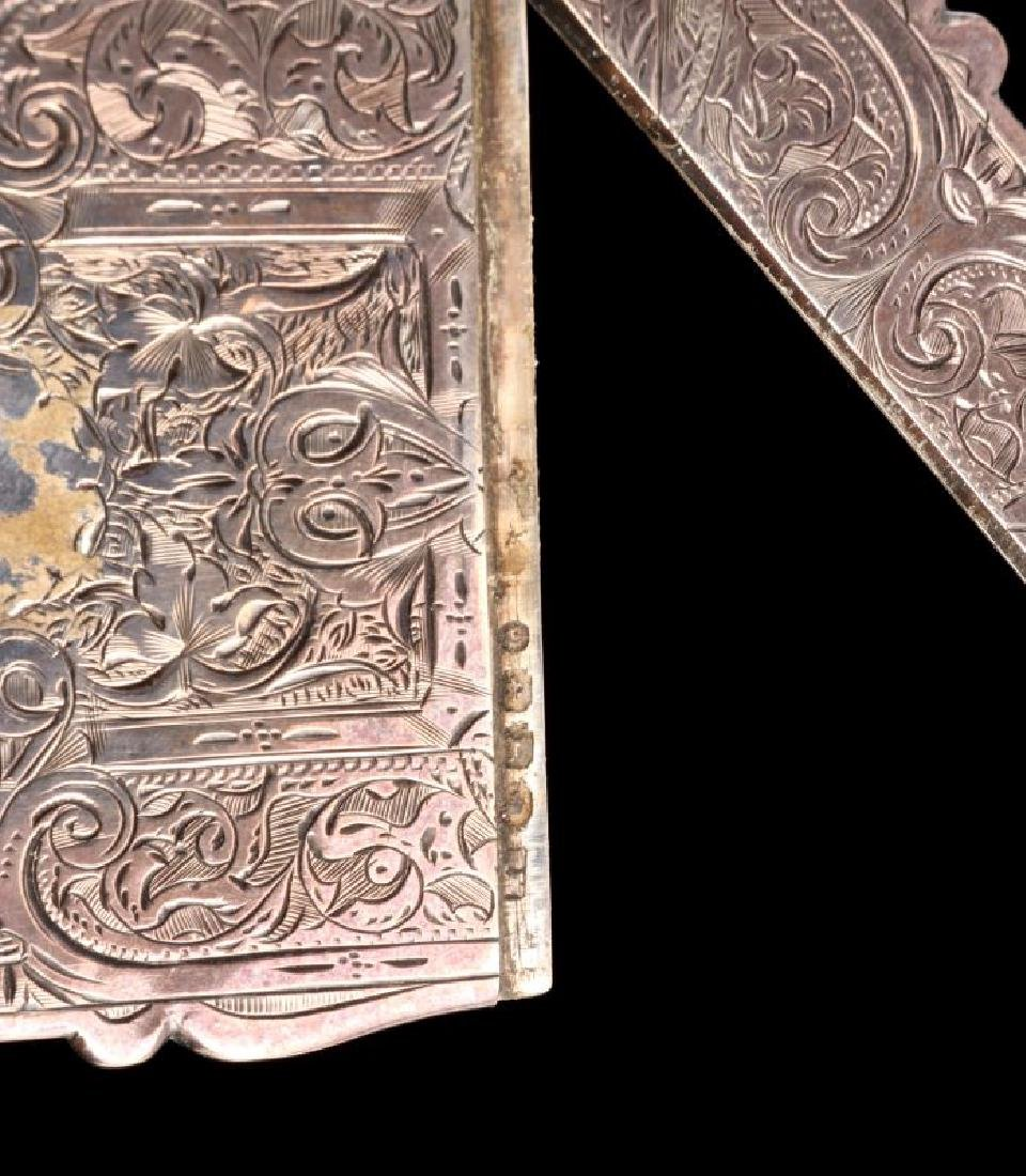 AN 1871 STERLING SILVER CALLING CARD CASE - 4