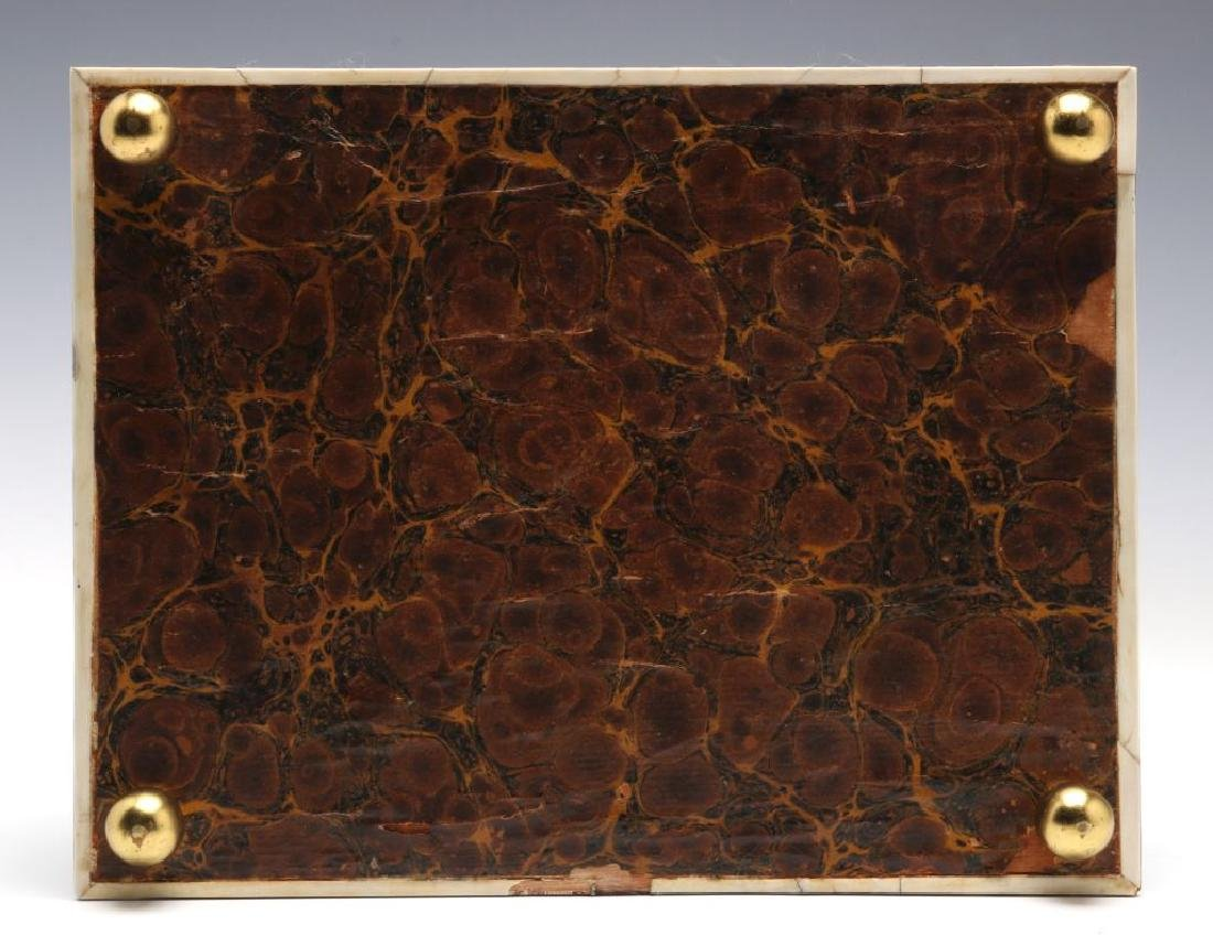 A 19TH CENTURY TORTOISE VENEER SEWING BOX - 8