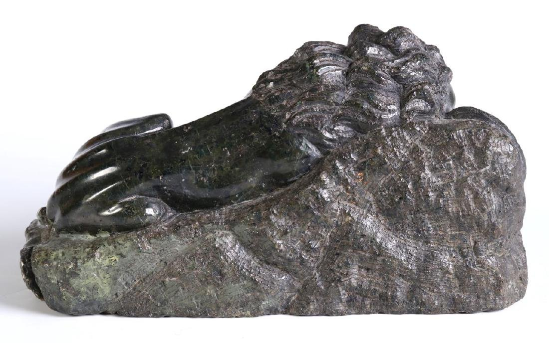 A 19TH CENTURY CARVED MARBLE LION OF LUCERNE - 6