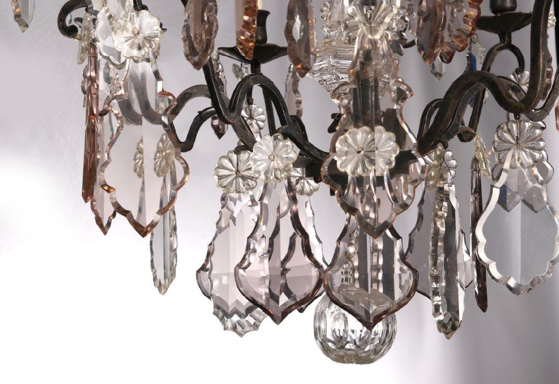 A FABULOUS OXIDIZED BRONZE NINE LIGHT CHANDELIER - 10
