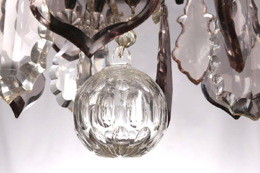 A FABULOUS OXIDIZED BRONZE NINE LIGHT CHANDELIER - 9