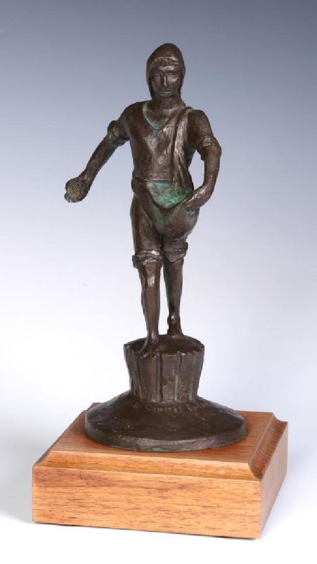 A 20TH C. BRONZE MODEL OF 'THE SOWER' AFTER LAWRIE
