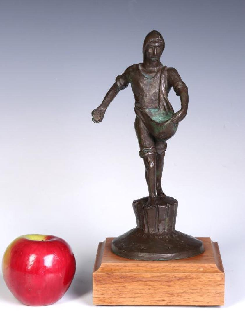 A 20TH C. BRONZE MODEL OF 'THE SOWER' AFTER LAWRIE - 2