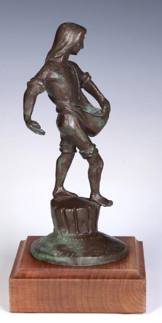 A 20TH C. BRONZE MODEL OF 'THE SOWER' AFTER LAWRIE - 5