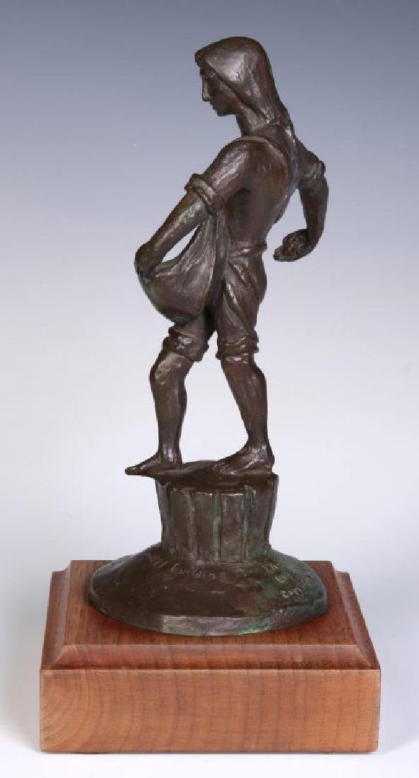 A 20TH C. BRONZE MODEL OF 'THE SOWER' AFTER LAWRIE - 7