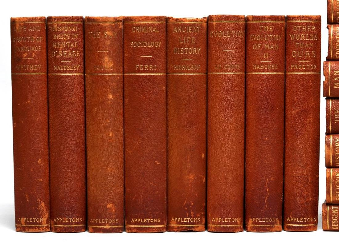A LATE 19TH C. SET OF BOOKS ON SCIENCE AND HISTORY - 3