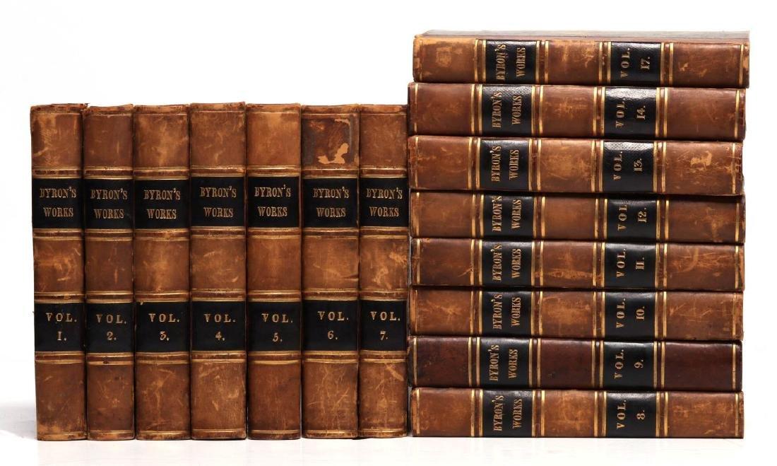 THOMAS MOORE, 'BYRON'S WORKS', 1833, 15 VOLS.