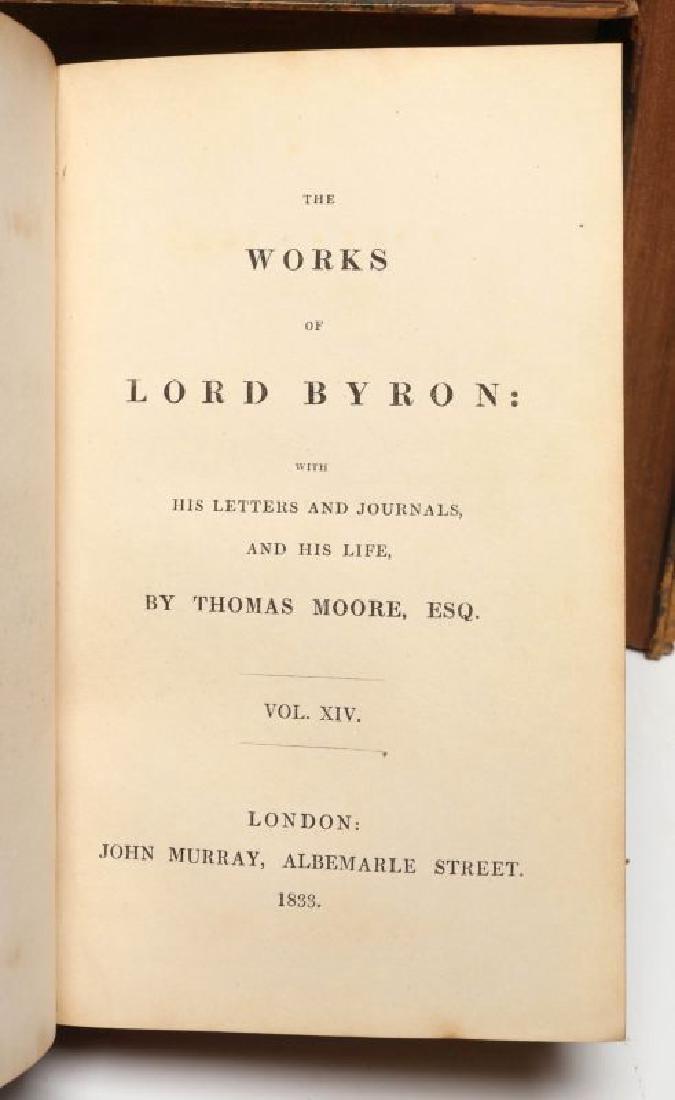 THOMAS MOORE, 'BYRON'S WORKS', 1833, 15 VOLS. - 9