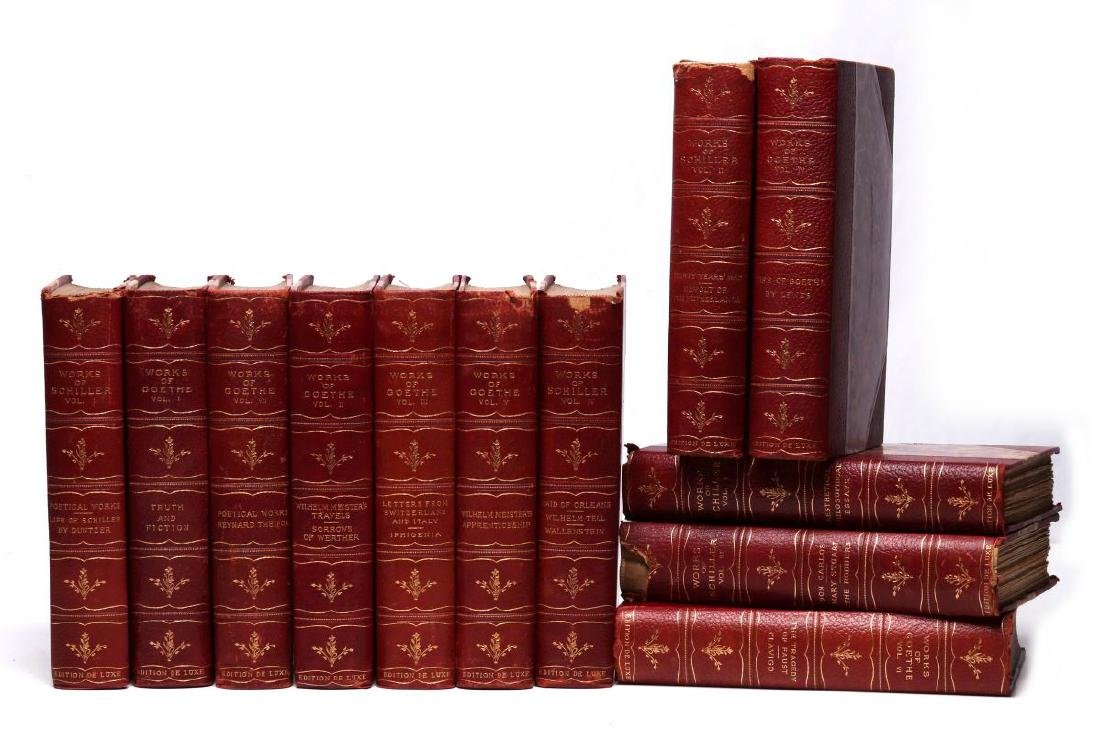 WORKS OF SCHILLER AND GOETHE, 12 VOL., 1902