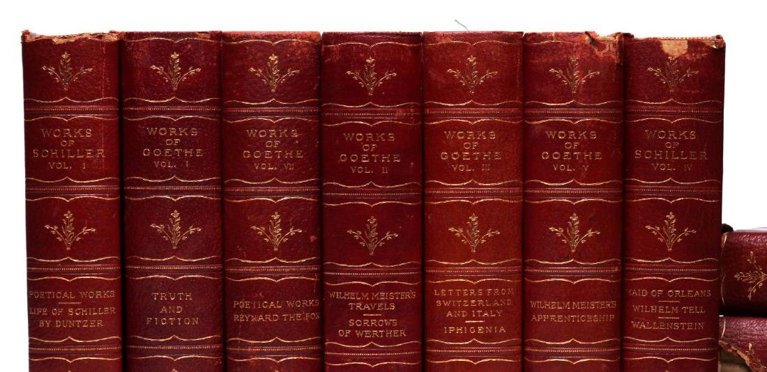 WORKS OF SCHILLER AND GOETHE, 12 VOL., 1902 - 3