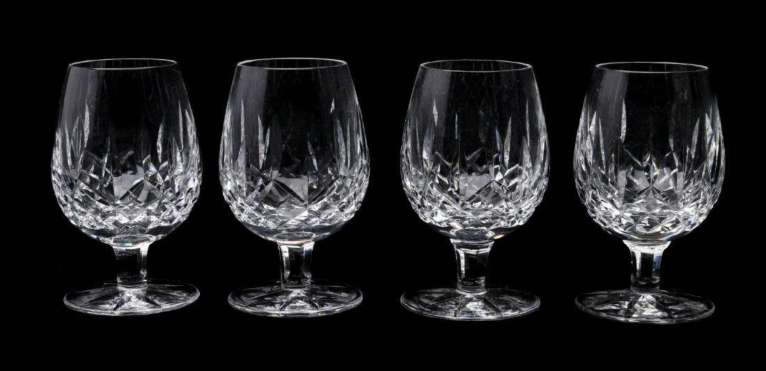 SIX WATERFORD 'LISMORE' CUT CRYSTAL PIECES - 3