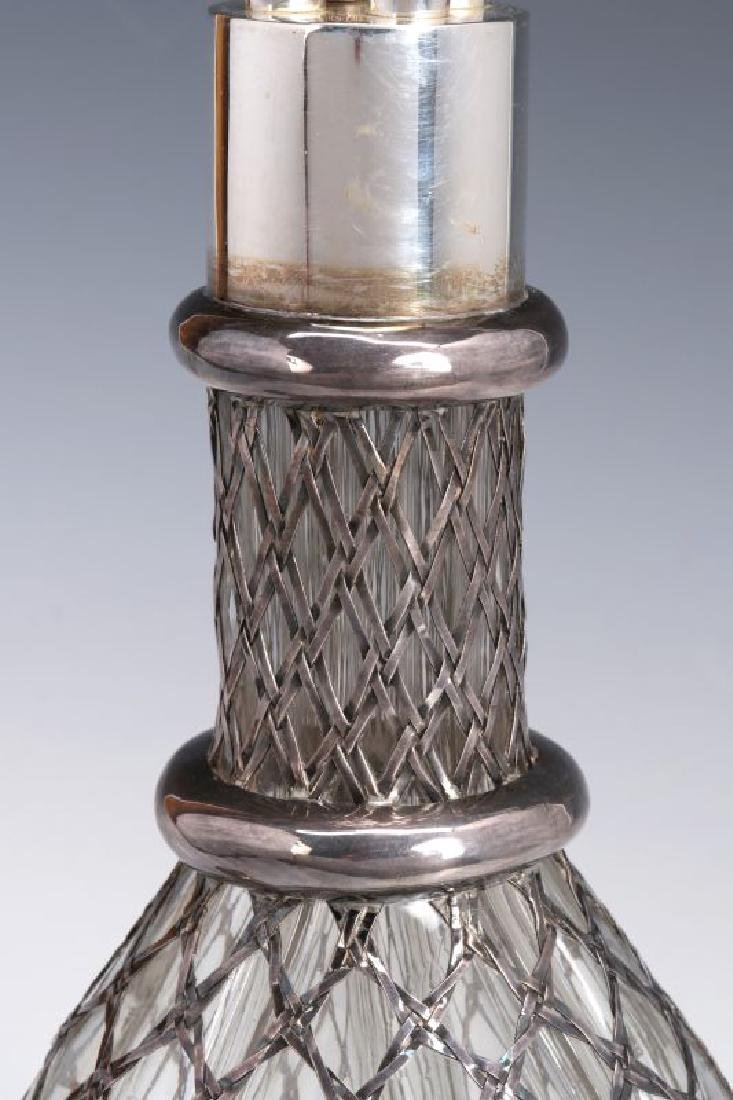 A FRENCH STERLING WRAPPED FOUR-CHAMBER BOTTLE - 3
