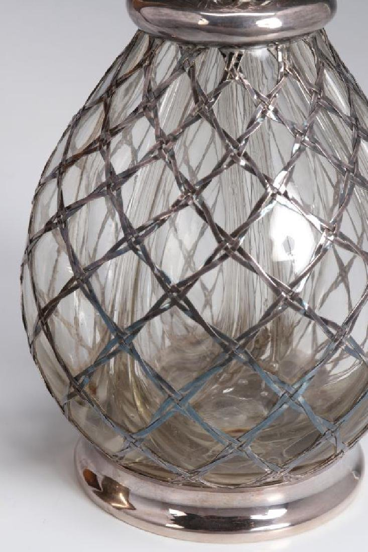 A FRENCH STERLING WRAPPED FOUR-CHAMBER BOTTLE - 4