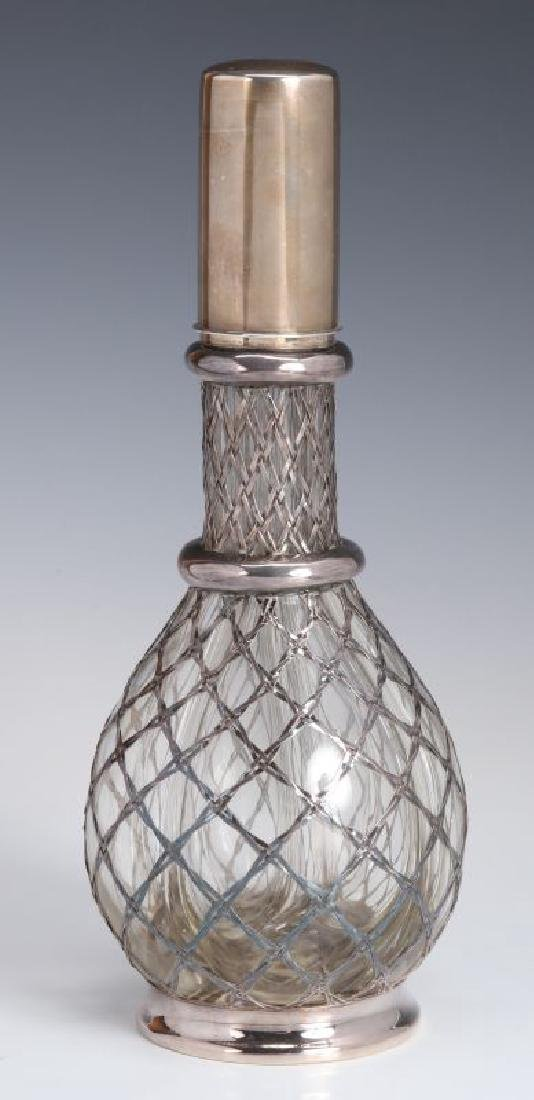 A FRENCH STERLING WRAPPED FOUR-CHAMBER BOTTLE - 5