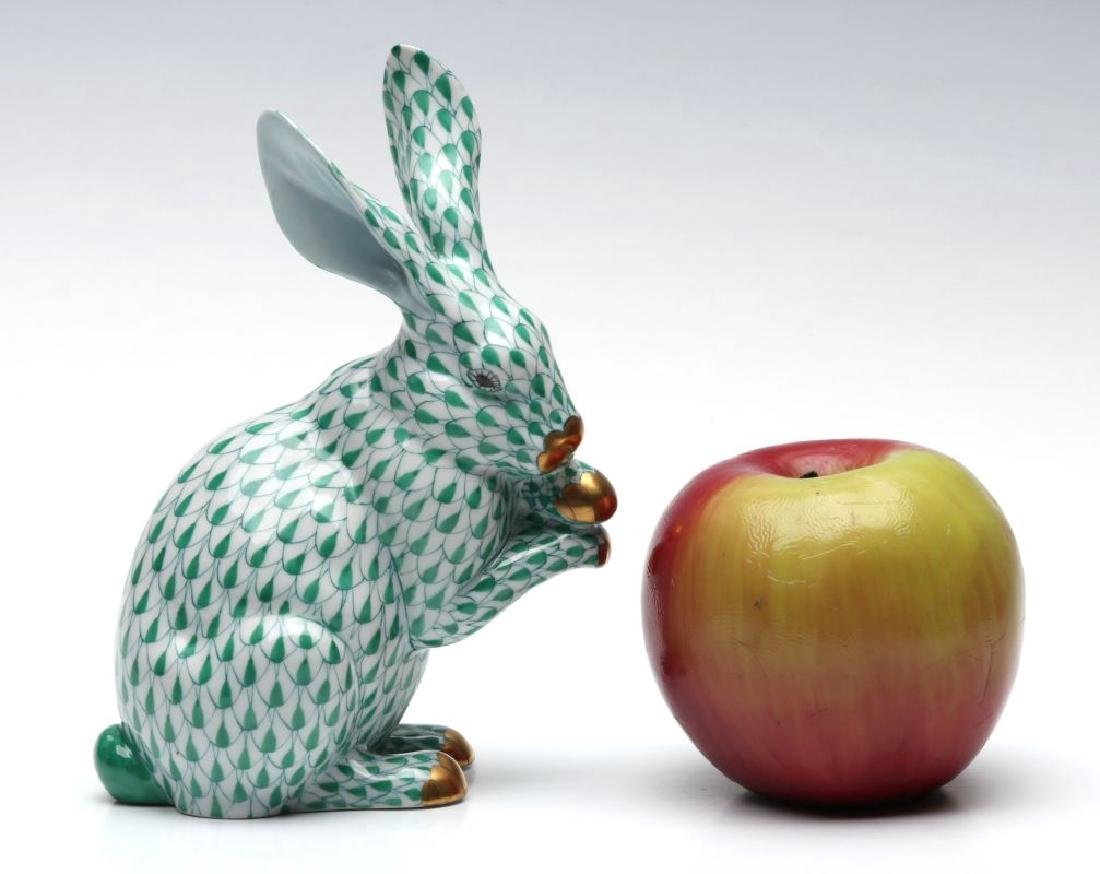 A HEREND PORCELAIN 'BUNNY WITH PAWS UP' FIGURE - 2