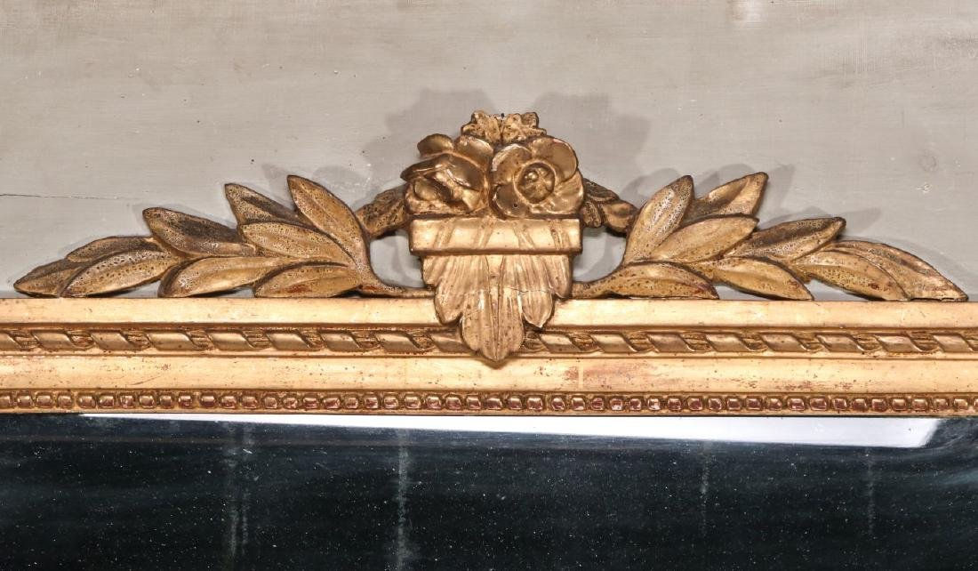 A VERY GOOD EARLY 19TH C. FRENCH PAINTED MIRROR - 8