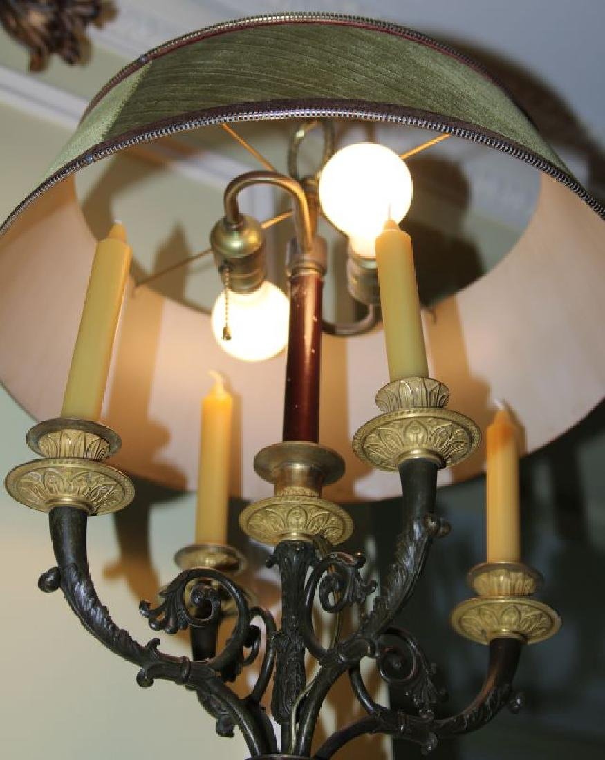 A PAIR 20TH C. FRENCH EMPIRE STYLE BRONZE SCONCES - 4