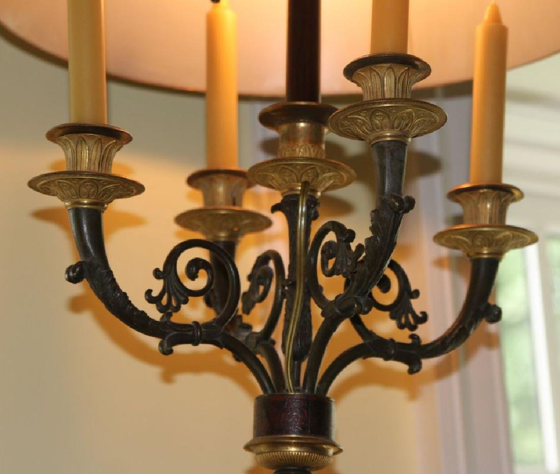 A PAIR 20TH C. FRENCH EMPIRE STYLE BRONZE SCONCES - 7
