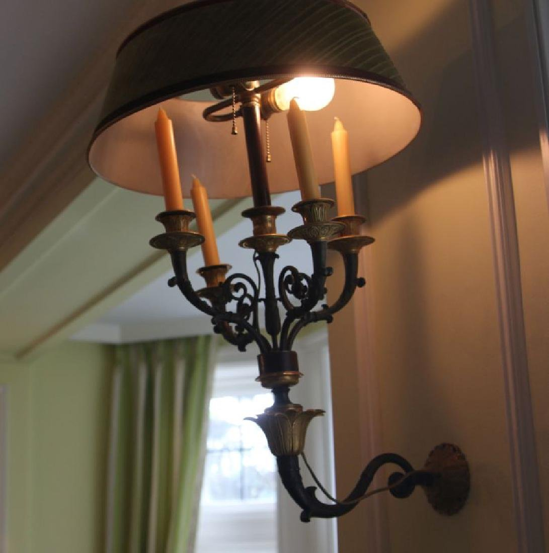 A PAIR 20TH C. FRENCH EMPIRE STYLE BRONZE SCONCES - 9