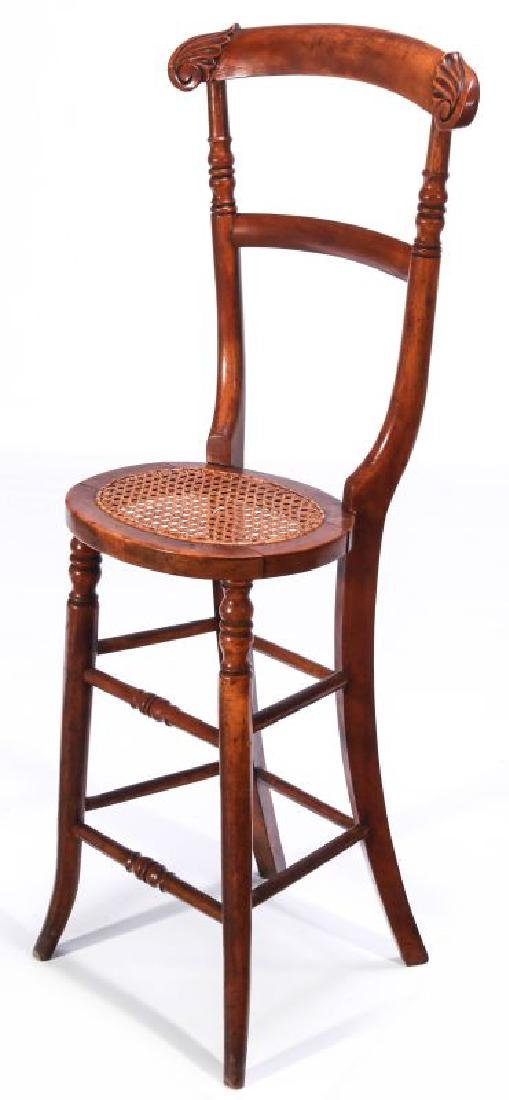 A 19TH C. CONTINENTAL HIGH BACK YOUTH CHAIR
