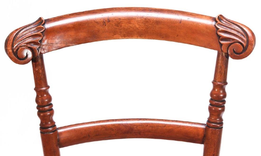 A 19TH C. CONTINENTAL HIGH BACK YOUTH CHAIR - 2