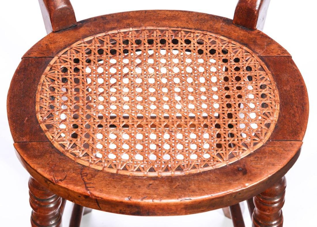 A 19TH C. CONTINENTAL HIGH BACK YOUTH CHAIR - 3