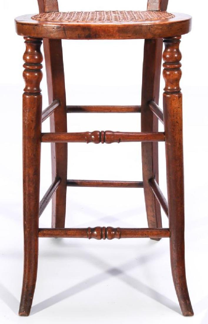 A 19TH C. CONTINENTAL HIGH BACK YOUTH CHAIR - 4