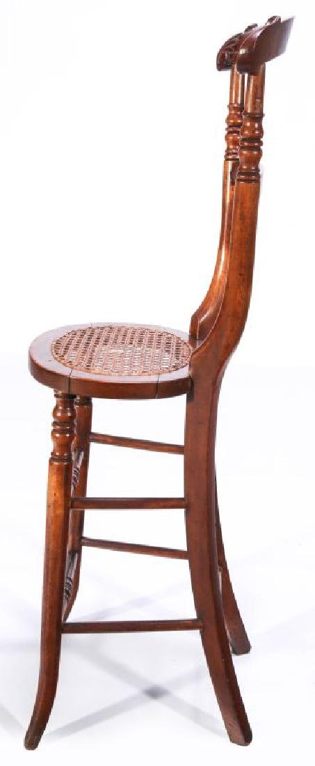 A 19TH C. CONTINENTAL HIGH BACK YOUTH CHAIR - 5
