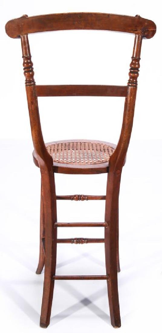 A 19TH C. CONTINENTAL HIGH BACK YOUTH CHAIR - 6