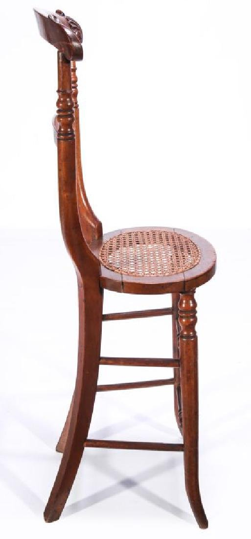 A 19TH C. CONTINENTAL HIGH BACK YOUTH CHAIR - 7