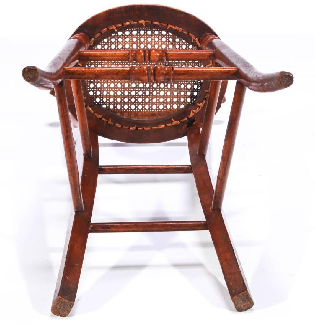 A 19TH C. CONTINENTAL HIGH BACK YOUTH CHAIR - 9