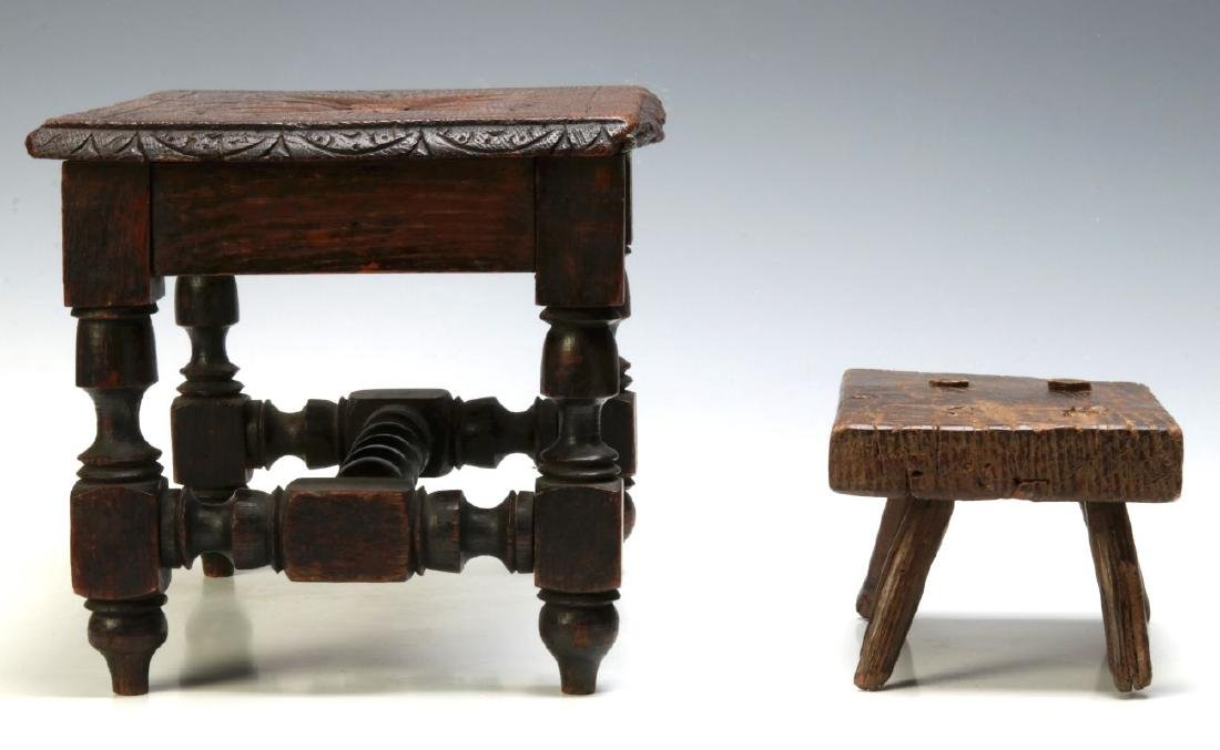 TWO EARLY CONTINENTAL STOOLS - 7